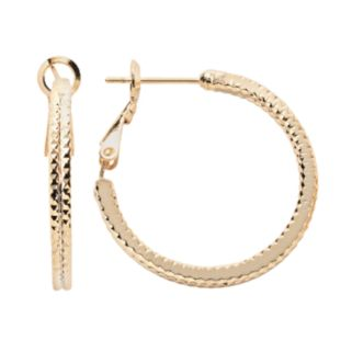 14k Gold Plate Hoop Earrings