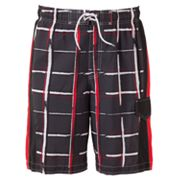 SONOMA life + style Broken Plaid Swim Trunks