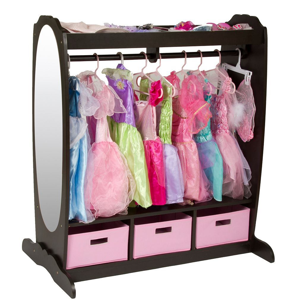 Guidecraft Dress-Up Storage Center - Chocolate