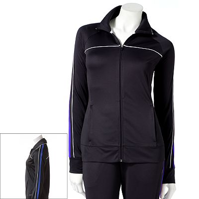 Jockey Sport Piped Tricot Performance Track Jacket