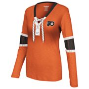 Reebok Philadelphia Flyers Lace-Up Henley - Women