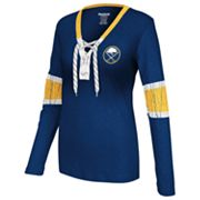 Reebok Buffalo Sabres Lace-Up Henley - Women