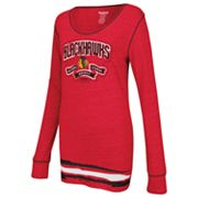 Reebok Chicago Blackhawks Striped Tee - Women