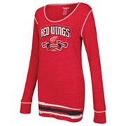 Reebok Detroit Red Wings Striped Tee - Women