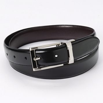 Croft & Barrow® Reversible Padded Faux-Leather Belt