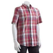 Chaps Slim Custom-Fit Plaid Sun-Drenched Poplin Casual Button-Down Shirt