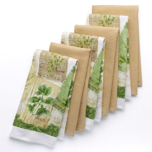 The Big One® 6-pc. Herb Kitchen Towel Set