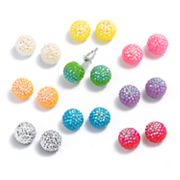SO Silver Tone Ball Stud Earring Set