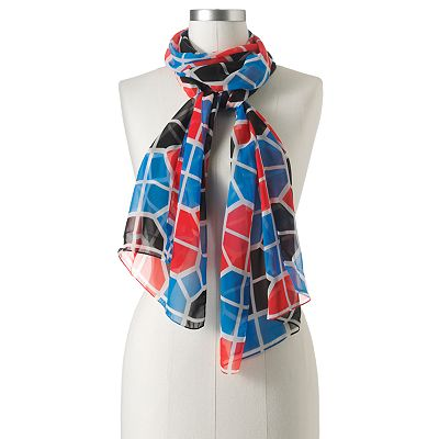 Apt. 9 Geometric Sheer Scarf