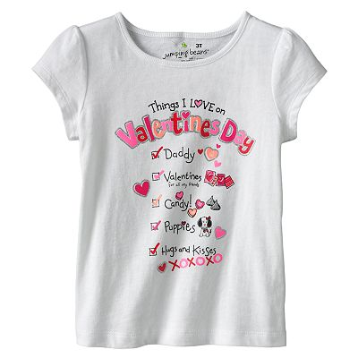 Jumping Beans Things I Love on Valentine's Day Tee - Toddler