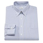 Arrow Classic-Fit Checked Non-Iron Button-Down Collar Dress Shirt
