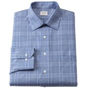 Arrow Classic-Fit Plaid No-Iron Spread-Collar Dress Shirt