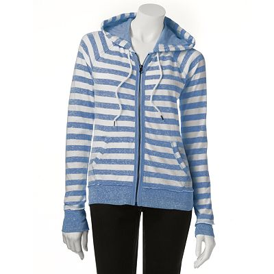 SO Striped Front-Zip Hoodie - Juniors
