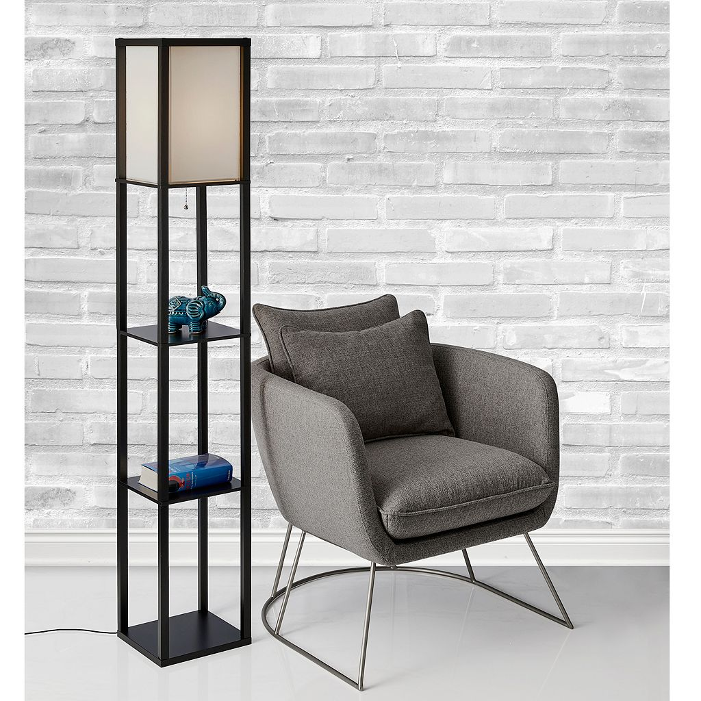 Adesso Wright Shelf Floor Lamp