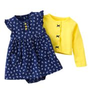 Carter's Anchor Bodysuit Dress and Cardigan Set - Baby