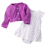 Carter's Bow Bodysuit Dress and Cardigan Set - Baby