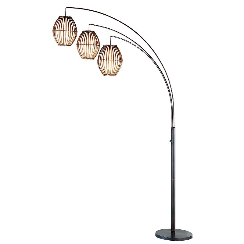 adesso spheres arc floor lamp. Black Bedroom Furniture Sets. Home Design Ideas