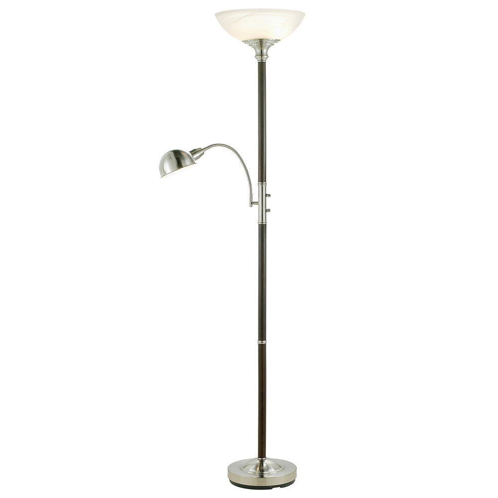 Adesso Lexington Torchiere Reading Lamp & Floor Lamp