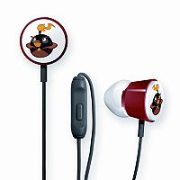 GEAR4 Angry Birds Black Bomber Space Deluxe Tweeters Earbud Headphones
