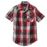 Tony Hawk Open Plaid Button-Down Shirt - Boys 8-20