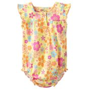 First Moments Floral Yoke Creeper - Baby