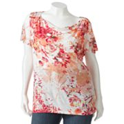 Apt. 9 Slubbed Drapeneck Top - Women's Plus