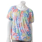 Cathy Daniels Leaf Embellished Top