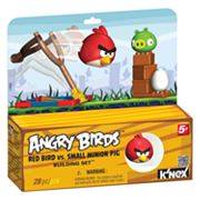 Angry Birds Red Bird Vs. Small Minion Pig Building Set by K'NEX