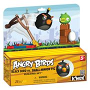 Angry Birds Black Bird Vs. Small Minion Pig by K'NEX