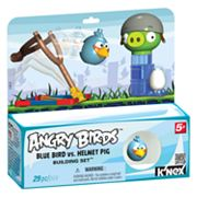 Angry Bids Blue Bird Vs. Helmet Pig Building Set by K'NEX
