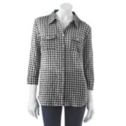 Croft and Barrow Plaid Pucker Shirt