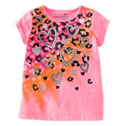 Jumping Beans Heart and Cheetah Tee - Toddler