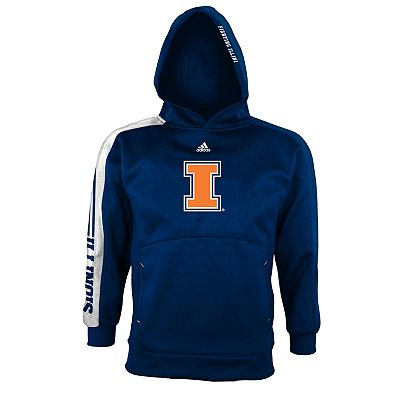 adidas Illinois Fighting Illini Sideline Swagger Hoodie - Boys 8-20
