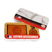 Chicago Cubs Trifold Wallet and Key Fob Gift Tin - Men