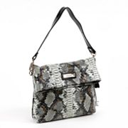 Roxbury Batya Python Leather Shoulder Bag