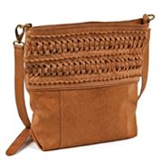 Roxbury Ike Woven Leather Shoulder Bag