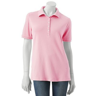 Croft and Barrow Solid Pique Polo