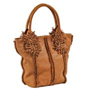 Roxbury Jory Leather Flower Tassel Tote