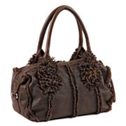Roxbury Jory Flower Tassel Leather Satchel