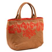 Roxbury Khadiha Stitched Leather Tote