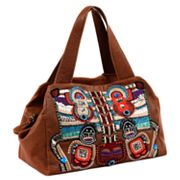 Roxbury Caldwell Embroidered Leather Satchel