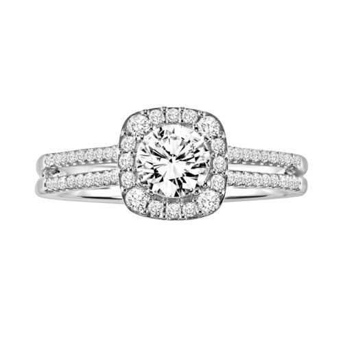 Simply Vera Vera Wang Diamond Halo Engagement Ring in 14k White Gold (3/4-ct. T.W.)