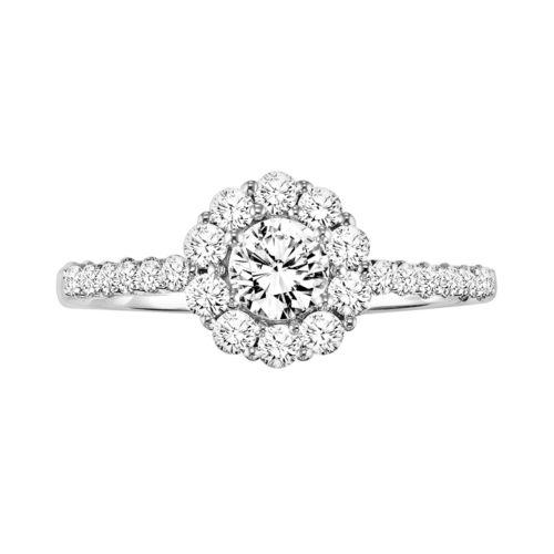 Simply Vera Vera Wang Diamond Halo Engagement Ring in 14k White Gold (3/4 ct. T.W.)