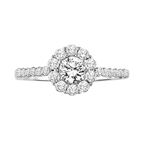 Simply Vera Vera Wang Diamond Halo Engagement Ring in 14k White Gold (3/4 ct. T.W.)