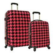 Traveler's Choice Houndstooth 2-pc. Expandable Hardside Spinner Luggage Set