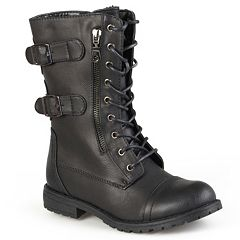 a8b3e4e65f6 Journee Collection Cedes Women s Combat Boots. Taupe Black