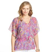 Chaps Paisley Lurex Top Set - Women's Plus