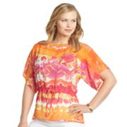 Chaps Watercolor Tunic - Women's Plus