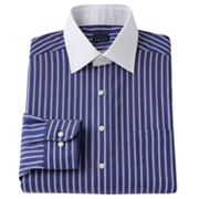 Chaps Classic-Fit Striped Spread-Collar Dress Shirt