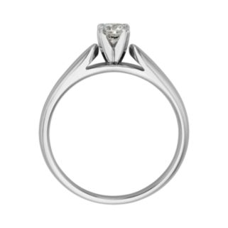 Round-Cut IGL Certified Diamond Solitaire Engagement Ring in 14k White Gold (1/4 ct. T.W.)